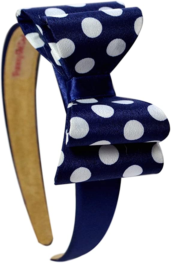 Satin Layered Polka Dot Bow Arch Headband - 3 Colors!