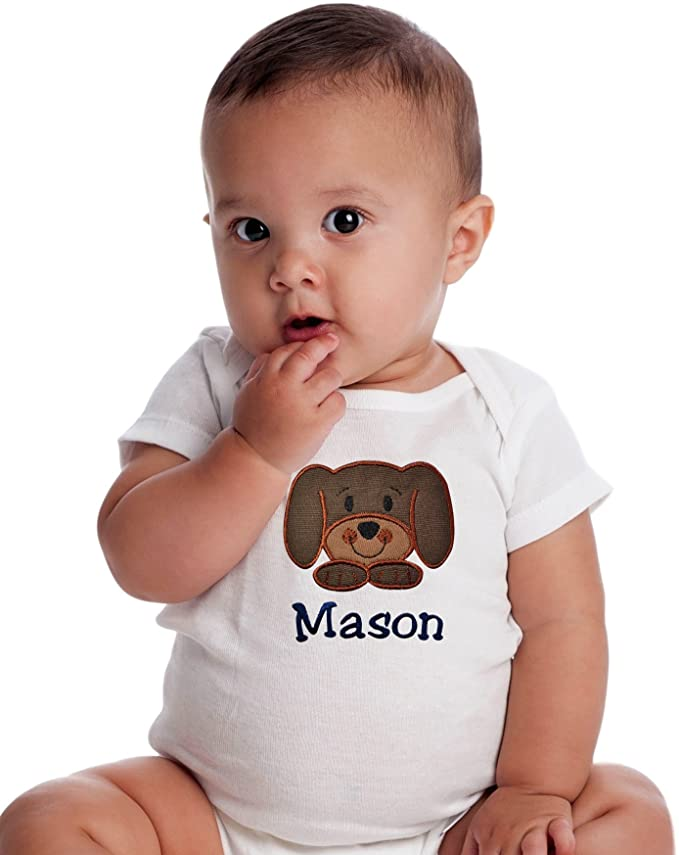 Personalized Puppy Dog Bodysuit With Custom Name