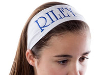 Load image into Gallery viewer, Personalized Monogrammed EMBROIDERED Cotton Stretch Headband with Custom Text - Quantity Discounts
