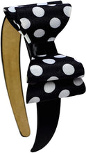 Load image into Gallery viewer, Satin Layered Polka Dot Bow Arch Headband - 3 Colors!