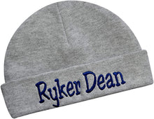 Load image into Gallery viewer, Personalized Cotton Baby Hat for Boys with Custom Embroidered Name