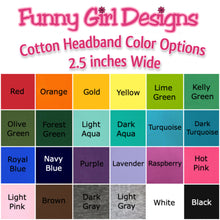 Load image into Gallery viewer, Volleyball Cotton Stretch Headband with Your Custom and Personalized VINYL Text - Quantity Discounts