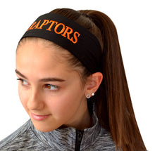 Load image into Gallery viewer, Lacrosse Tie Back Moisture Wicking Headband Personalized with Your EMBROIDERED Text - Team Discounts