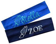 Load image into Gallery viewer, Personalized Monogrammed EMBROIDERED Track & Field Cotton Stretch Headband - Quantity Discounts