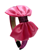 Load image into Gallery viewer, Sparkling Glitter Girls Satin Bow Arch Headband