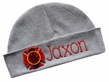 Load image into Gallery viewer, Girls Personalized Embroidered Firefighter Hat with Custom Name