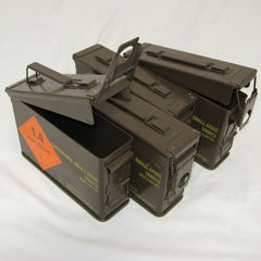 British Metal Ammo Box 4-Pack. .30-Cal. Brown.