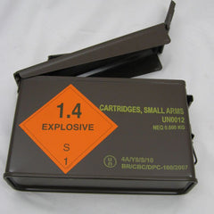 British Metal Ammo Box. .30-Cal. Brown.