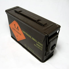 British Metal Ammo Box. .30-Cal. Used / Graded. Brown.