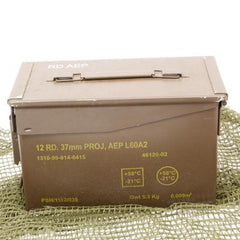 British Metal Ammo Box. .50-Cal. Brown.
