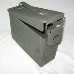Danish Metal Ammo Box. .30-Cal. Used / Graded. Olive Green.
