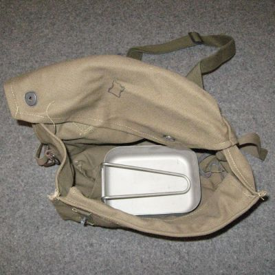 Finnish Cotton-Canvas Respirator H'Sack. Used/Graded.