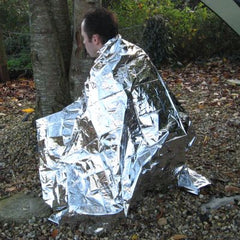 Emergency Foil Blanket. Silver.