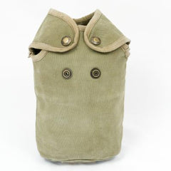 French Canvas Water Bottle Pouch. Used / Graded. Khaki.
