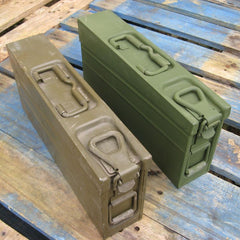 German Metal Ammo Box. 'MG-3'. Olive/s.