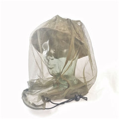 Head & Neckwear: Mosquito Net. British. 'New'. Olive Green.