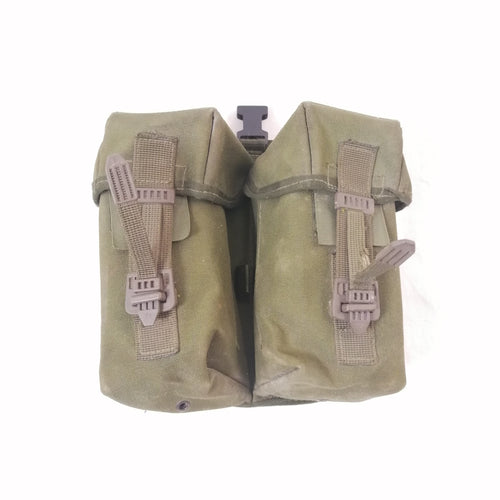 British '90-pattern P.L.C.E. Ammo Pouch - Gen-1 / Left. Used / Graded. Olive Green.