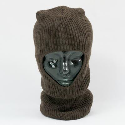 Open Face Balaclava in Acrylic. Olive.