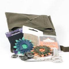 Sewing Kit: Housewife (Premium). Used/Graded. Olive Drab.