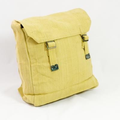 Cotton-Webbing Medium Backpack. Light Khaki.