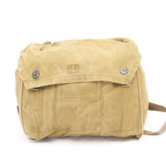 Finnish Cotton-Canvas Respirator Haversack. Used / Graded. Browns / Khakis / Olives.