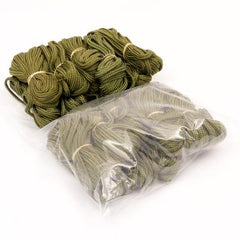 Cord: Cargo Cords. 20 x 4+mts. x 5mm. British. Used / Graded. Olive Green.