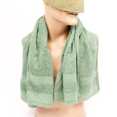 Personal Hygiene: Terry-Cotton Towel. Used/Graded. Olive Green.