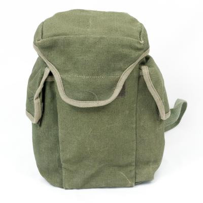 French Cotton-Canvas Gen-1 Respirator Haversack. Used / Graded. Olive.