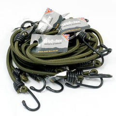 "Elastic: Bungees With Hooks. 30"" x10. New. Olive Green."