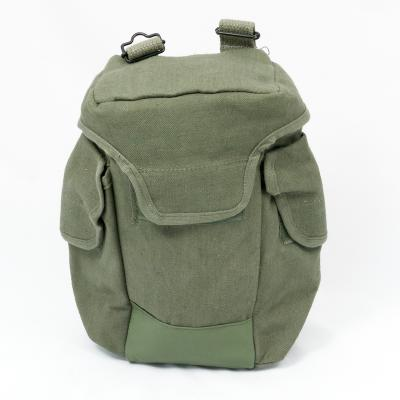 French Cotton-Canvas Gen-2 Respirator Haversack. Used / Graded. Olive.