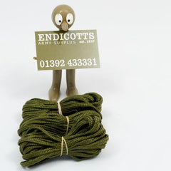 Cord: Cargo Cords. 3 x 4+mts. x 5mm. British. Used/Graded. Olive Green.