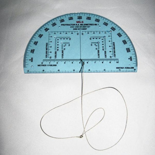 Navigation: Military RA 150mm Protractor. N.A.T.O. New. Transparent.