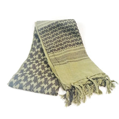 Head & Neckwear: Shemagh Scarf. Cotton. New. Olive & Black.