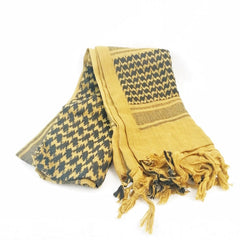 Head & Neckwear: Shemagh Scarf. Cotton. New. Sand & Black.