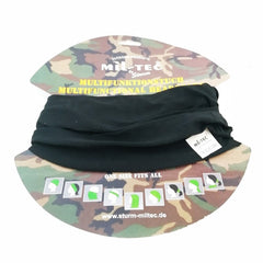 Head & Neckwear: Tactical Snood / Face Covering. New. Black.