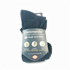 Socks: HJ Commando™ Sock. 3K. 60% Wool. New. Black.