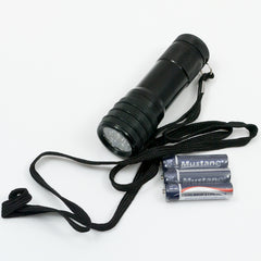 Torch: Tactical. 9 x (White) LED. 3 x AAA. New. Black.