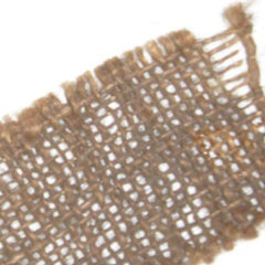Camouflage & Concealment: Genuine U.S Burlap. Per Metre 'Off-the-Roll'. Used/Graded. Drab Brown.