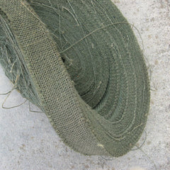 Camouflage & Concealment: Genuine U.S Burlap. Per Metre 'Off-the-Roll'. Used/Graded. Drab Olive.
