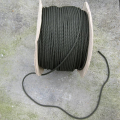 Cord: Premium+ Utility Cord. Mil-spec'. Per Metre 'Off-the-Roll' x 5mm. New. Olive Green.