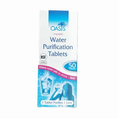 Hydration / Purification: Water Purification Tablets x 10 Tablets. New. White.