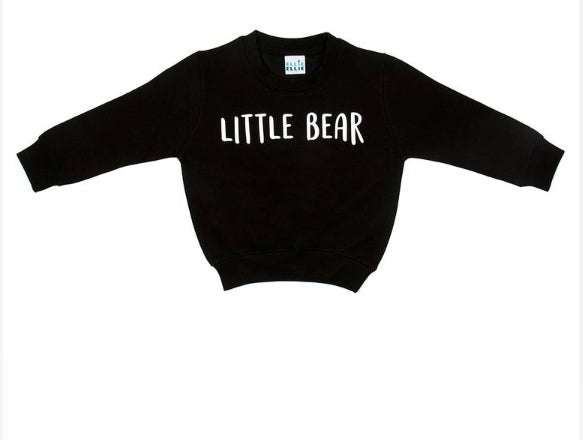 Sweat-shirt LITTLE BEAR - Noir