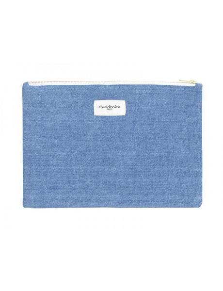 Barbette, la pochette M - Denim Clair