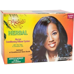 Hawaiian Silky Argan Oil Relaxer Kit Super