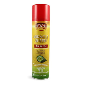 African Pride Miracle Sheen Oil Spray 9 oz