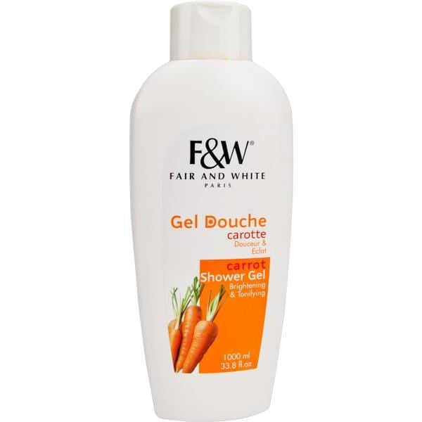 Fair and White Brightening Shower Gel Carrot 1000 ml