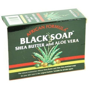 African Black Soap - African Formula Black Soap Shea Butter and Aloe Vera