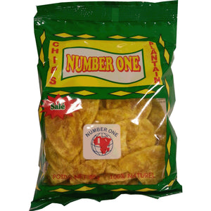 Number One Banan Plantain Chips Salted 85g