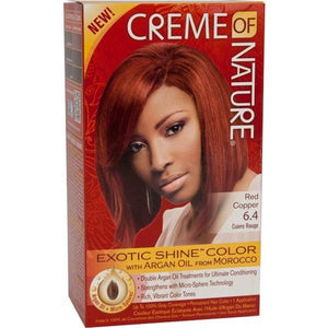 Creme of Nature Hair Color Argan Kit Woman Red Copper 6.4