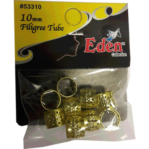 Eden Collection Filigree Tube Gold 10 mm